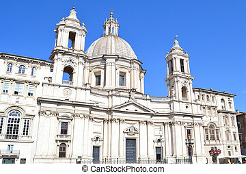 Rome, Basilica of St. Agnes - Rome, Italy. Basilica of St....