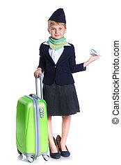 Little stewardess - Charming Little Stewardess Dressed In...