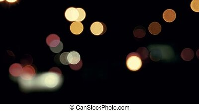 Blurred night city lights - Blurred Out of focus night city...