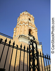 Tower of Iglesia de Santa Rosa, Lima - Tower of Iglesia de...
