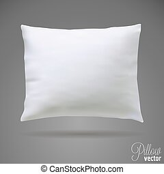 Isolated white pillow. Mock up vector template
