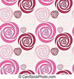 seamless background with flowers art card vector...
