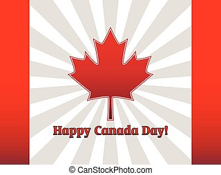 Canada Day - abstract vector flag Happy Canada Day