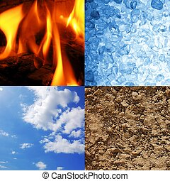 the four elements earth wind water and fire
