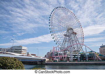 Yokohama, JAPAN - March 04 : Yokohama Minatomirai 21...
