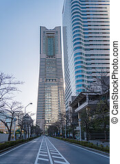 YOKOHAMA, JAPAN - March 04: Landmark Tower in Yokohama...
