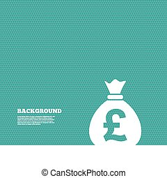 Money bag sign icon Pound GBP currency - Background with...