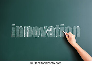 Innovation written on background