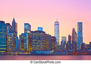 New York City, financial district - New York City, financial...