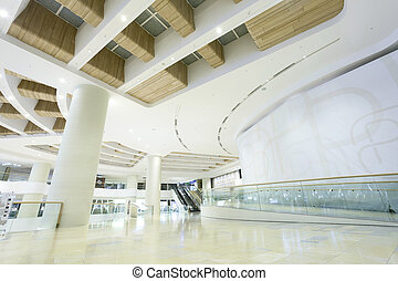 shopping mall entrance hall interior and decoration