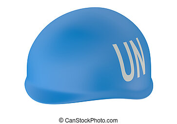 peacekeeping UN isolated on white background