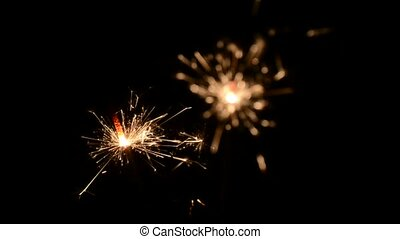 Christmas and newyear sparklers - Christmas and newyear...