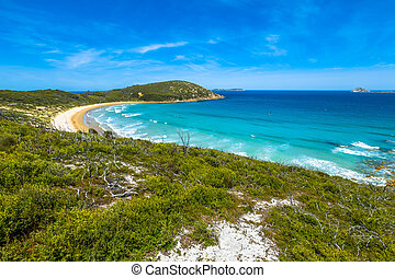 Squeaky Beach Victoria - Top view of Squeaky Beach in...