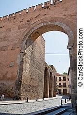 Puerta Elvira in Granada - Puerta Elvira, door of entrace in...