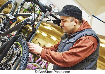 bike repair or adjustment
