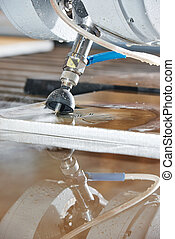 metalworking cutting with water jet - metalworking industry....