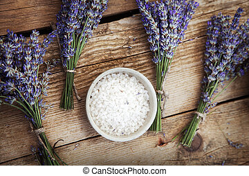 Lavender spa - Spa and wellness setting with lavender...