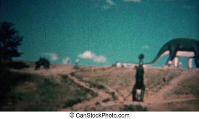 (8mm Vintage) 1966 Dinosaur Park - Original vintage 8mm home...