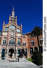 Hospital de Santa Creu of Gaudi, Barcelona, Catalonia,...
