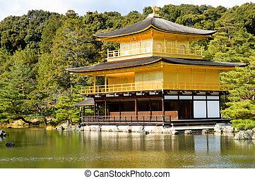 Golden Pavilion Kinkaku-ji in Kyoto, Japan