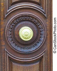 Brown door - a view of a brown door