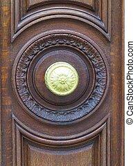 Brown door - a view of a brown door