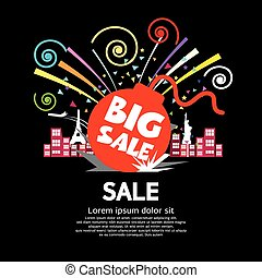 Big Sale - Big Sale Vector Illustration