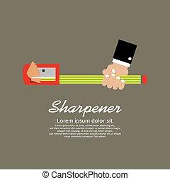 Pencil Sharpener - Pencil Sharpener Illustration