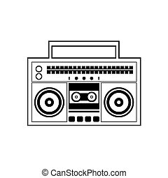 Ghetto Blaster Radio - Ghetto Blaster Radio Vector...