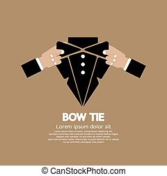 Bow Tie. - Bow Tie Vector Illustration.