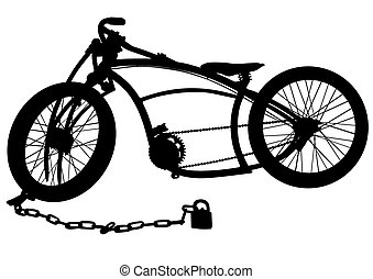 Bicycle on white