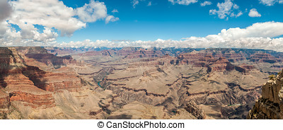 View at the Grand Canyon from Pima point - Panoramic view at...
