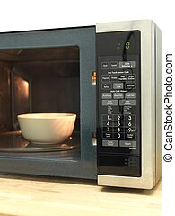 Microwave Oven - A shot of a kitchen microwave oven