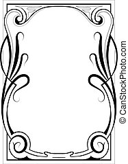 Decorative frame - Vintage style decorative frame with...