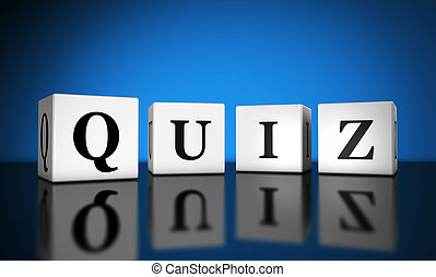 Quiz Sign Banner - Website and Internet concept with quiz...