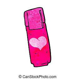 cartoon pink felt tip pen