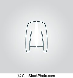 Jacket, vector - Jacket Flat web icon, sign or button...