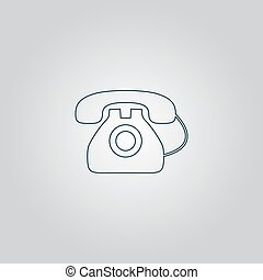 Office telephone - Vector icon isolated