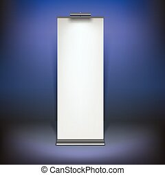 Blank roll up banner display - Vector blank roll up banner...