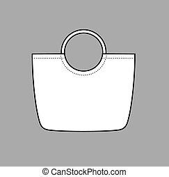 Handbag - Vector illustration of womens summer beach handbag