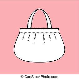 Handbag - Vector illustration of womens handbag on the...