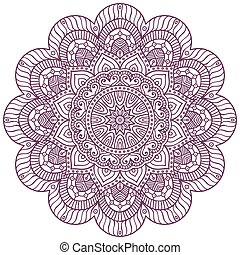 Mandala background. Vintage decorative elements. Hand drawn...