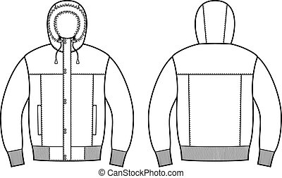 Down jacket - Vector illustration of winter down jacket....