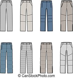 Pants - Vector illustration of winter pants