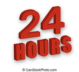 24 hours - Caption 24 hours, vector art illustration concept...