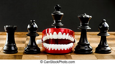 Taking a bite out of chess. - Chess players a game of war...