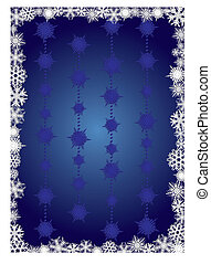 Blue snowcapped background - background for your greetings...