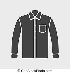 Shirt icon - Vector illustration of mens business shirt icon...