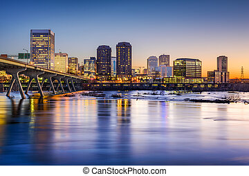Richmond Virginia Skyline - Richmond, Virginia, USA downtown...