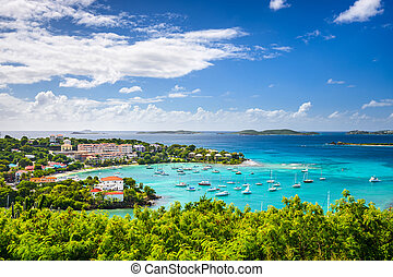 Caribbean Bay - Cruz Bay, St John, United States Virgin...